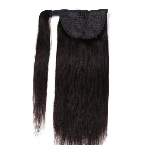 16 « -28 » 100% Barrettes Remy naturel brésilien magique Ponytail Prêle / sur Extension de cheveux humains cheveux raides 100Gam set 2 ensembles Lot