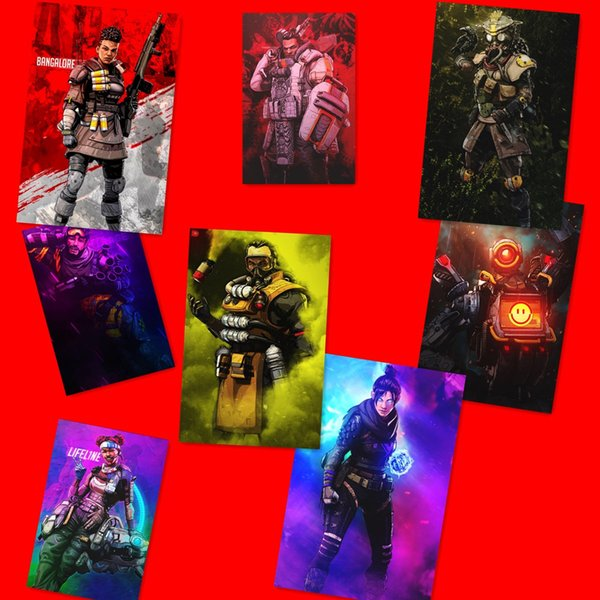 Apex Legends Wall Sticker 60*40cm For bedroom Baby boys room decoration cartoon 3D print Game poster Self Adhesive Stickers AAA1870