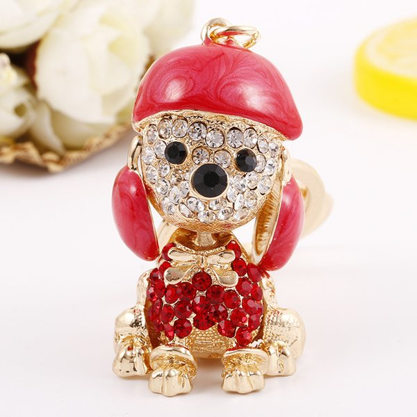 Car Key Chain Festival Gift Mascot Wang wang Puppy dog Car Lovely Creative Bag Hanging cute red blue on sale free shipping