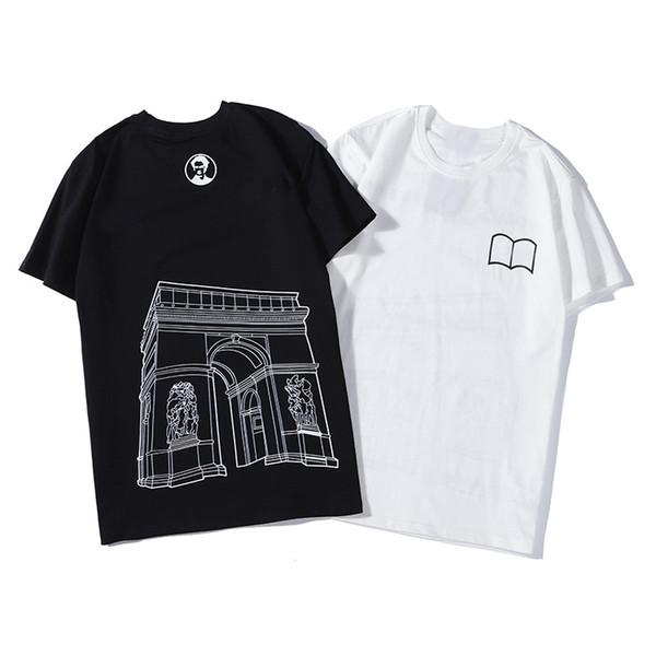 Sıcak Satış Pamuk Yeni Erkek Yaz Tees Artı boyutu Gömlek Kısa Kollu T Shirt Baskılı Pamuklu tişört Erkek Tasarımcı Giyim S-2XL 2020