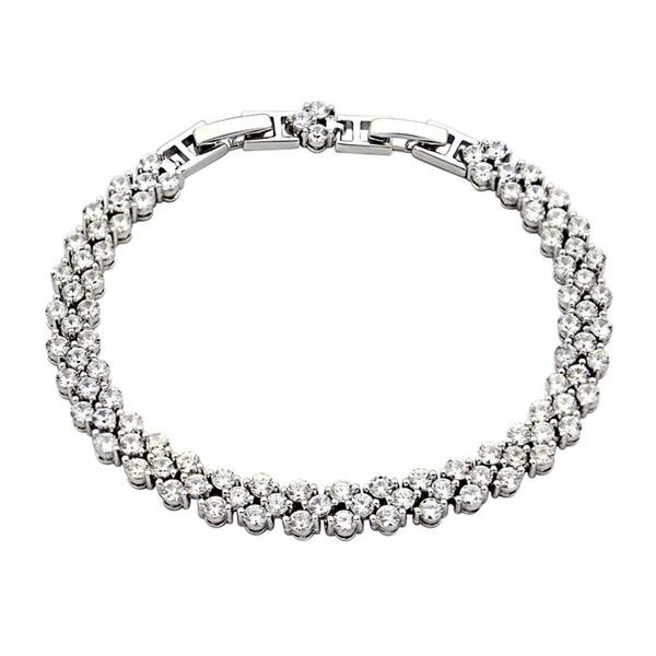 Venta caliente pulsera de cadena de titanio amante de acero pulsera con diamante Nueva moda mujer pulsera regalo de la joyería Perfect Punk marca jew