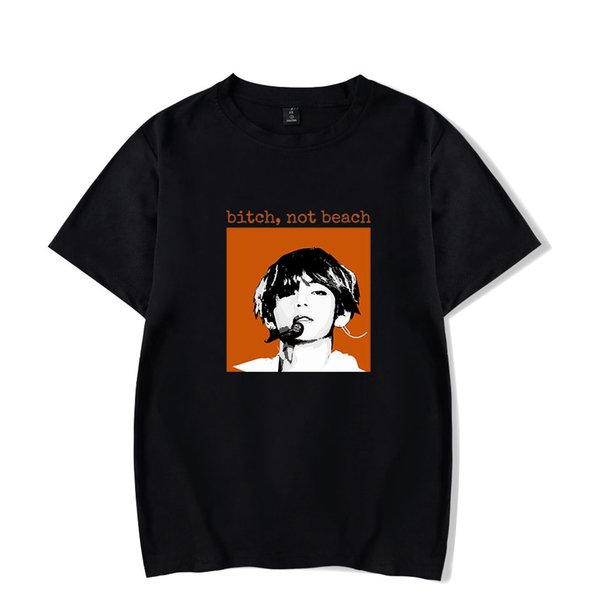 New Love Yourself Fans Kpop Футболки Мужские хип-хоп с коротким рукавом повседневная верхняя одежда Мужская футболка