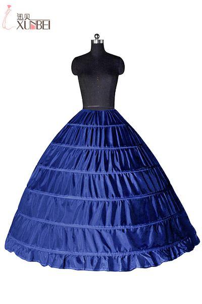 Free Shipping Cheap White 6 Hoops 2017 Petticoats For Wedding Dress Crinoline Underskirt Cheap Wedding