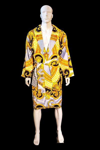 Soie Peignoirs jacquard baroque luxe robes d'impression de concepteur Medusa correspondant même conception serviettes de bain Ensembles de collections Royal Home