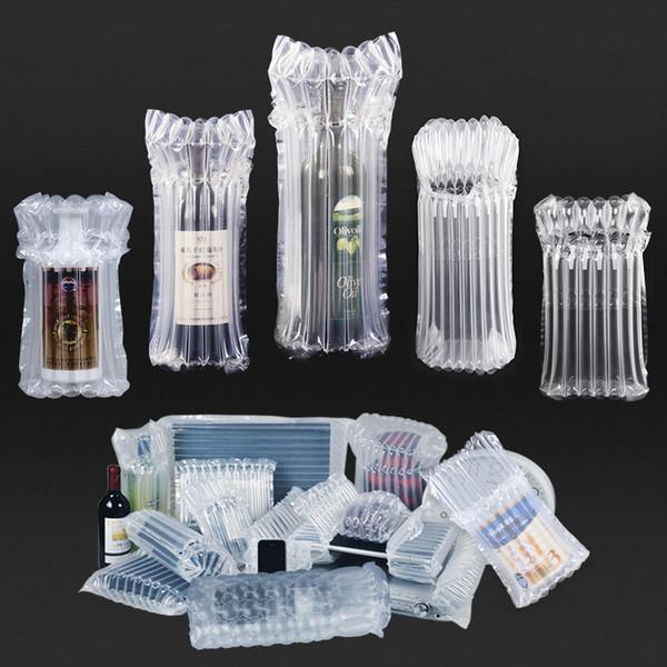 15x30cm 20pcs Levántese las bolsas de embalaje de plástico con sello de aire / envases a prueba de terremotos vinos rojos, etc. bolsas frágiles de vidrio