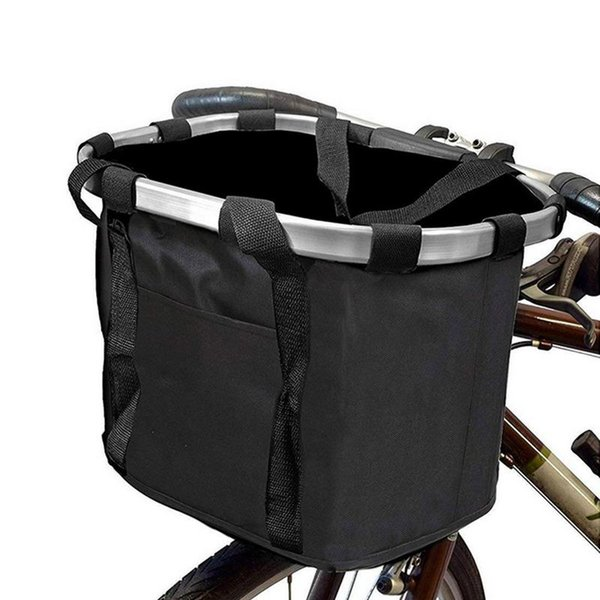 Bicycle Bags Panniers Detachable Bicycle Front Cycle Canvas Basket For Scooter And Carrier Shopping Bag Pet Carrier Bag