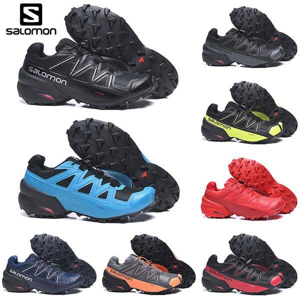 Großhandel 2019 Salomon Speedcross 5 5s CS Herren Laufschuhe Speedcross Designer Herren Sportschuhe Sportlich Wasserdichte Sportschuhe Turnschuhe