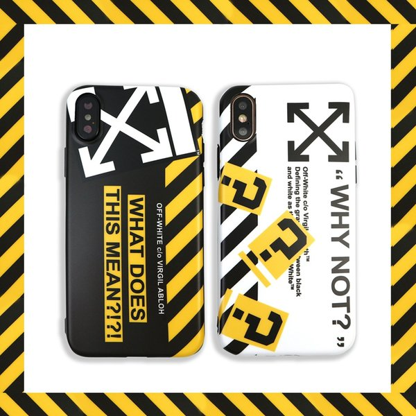 Für iphone xs xx phone cases off flut weiß marke paar imd weichen handy case für iphone 6 7 8 plus xr