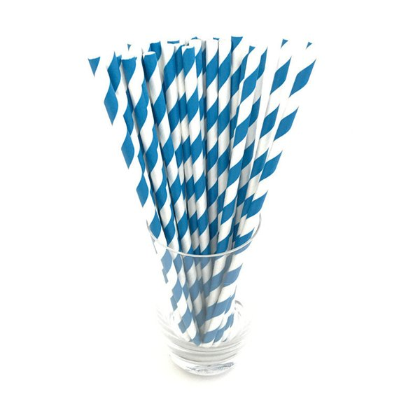 25pcs/lot Designs Biodegradable paper straw environmental colorful drinking straw wedding kids birthday party decoration supplies dispette