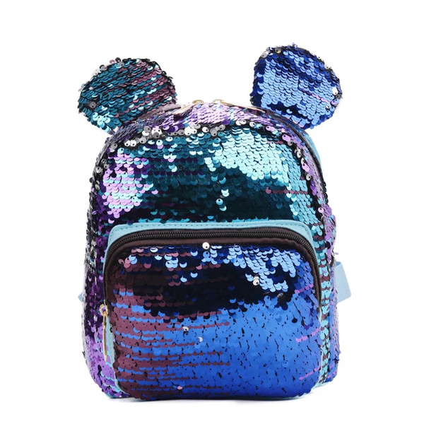 Cartoon Sequins School Backpack wholesale Hottest Girls Mini Glitter Backpack Fashion Cartoon Kids Sequin School Backpack 3pcs/lot