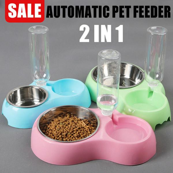 Otomatik Pet Köpek Kedi Su Kase Gıda Besleyici Şişe Sebili Paslanmaz Çelik