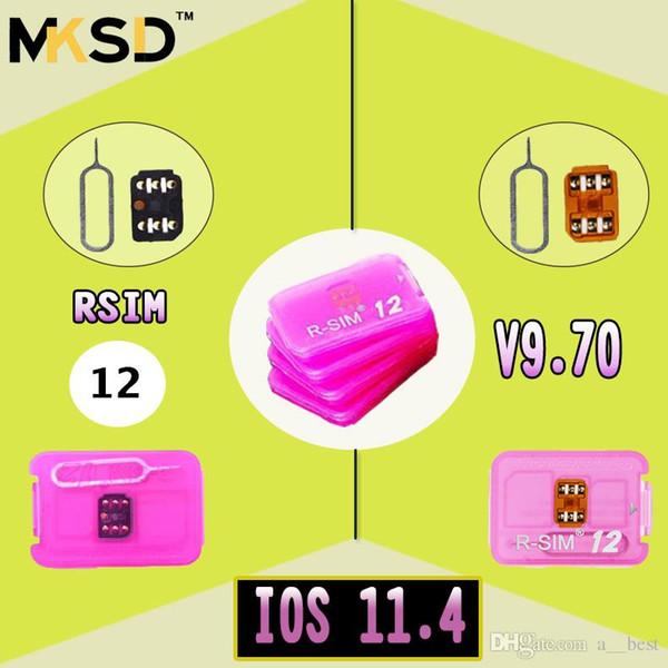 NEWEST Unlock card R-SIM R SIM 12 RSIM12 r sim12 rsim 12 for iPhone 5 6 7 8 X IOS11.4 CDMA GSM WCDMA SB AU SPRINT 3G 4G free ship WITH DHL