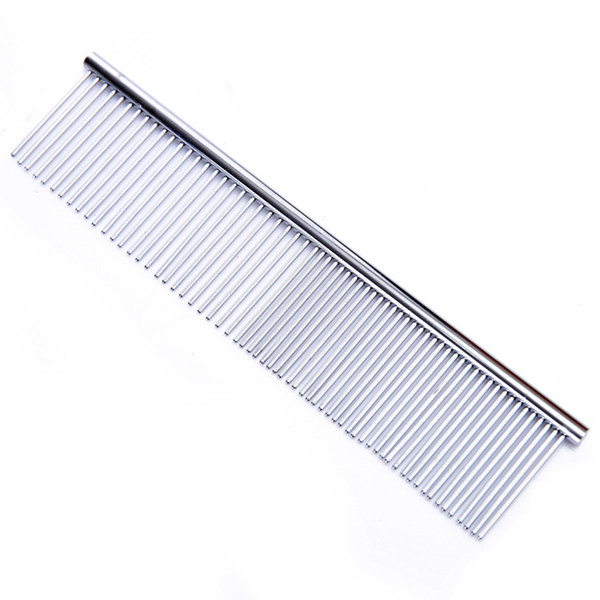 1pcs Dog Comb Long Thick Hair Fur Removal Brush Stainless Steel Lightweight Pets Dog Cat Grooming Combs For Shaggy Dogs Barber