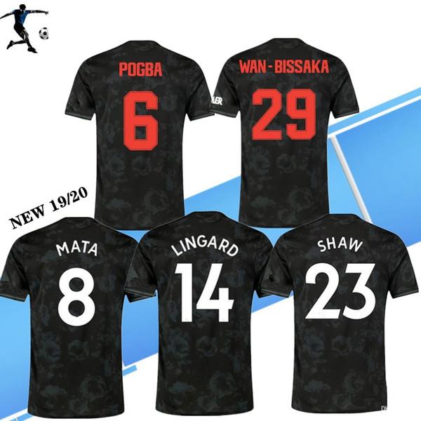 S-4XL Tailândia FC camisa de futebol Manchester Pogba 3RD 2019 camisa de futebol 2020 Lingard MAGUIR Rashford unidos Utd 19 20 uniformes homem jérseis