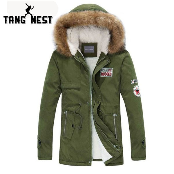 TANGNEST Men Parka Coat 2018 Men's Warm Korean Style Padded Jacket Male Hooded Casual Winter Coats M-3XL MWM495
