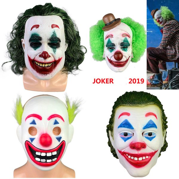 Pennywise маска Хэллоуин 2019 фильм Клоун маски Ужас Flake Joker маска Рождественский костюм Cosplay партии фильм для взрослых Маскарад B1