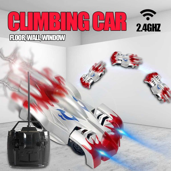 Remote Control Wall Climbing Stunt Climber RC Car LED Lights Glass Floor Charging Car Model Electric RC Racer Toys for Boys Gift