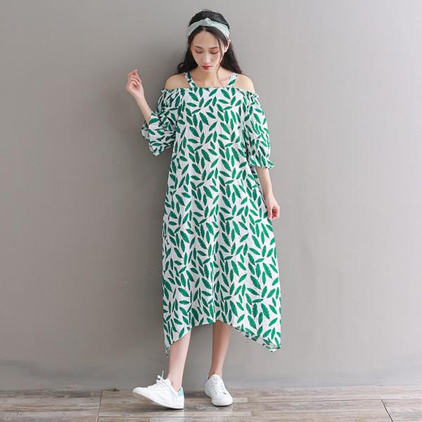 Сделать новое летнее платье ветер принес росе плечо оставляет юбку с набивным рисунком с лямками, ослабляя в длинном платье