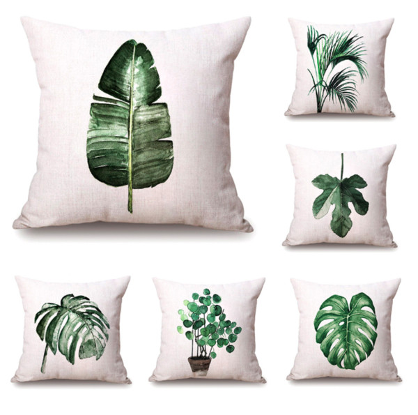 Super Watercolor Green Plant Neck Body Pillowcase Linen Bed Travel Pillows Cover Couch Seat Cushion Throw Pillow Home Decoration Gift Foam Neck Pillow Throw Theyellowbook Wood Chair Design Ideas Theyellowbookinfo