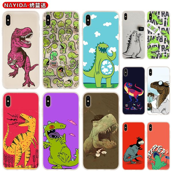 Soft Phone Case For iPhone 11 Pro X XR XS Max 8 7 6 6S 6Plus 5S S10 S11 Note 10 Plus Huawei P30 Xiaomi Cover Dinosaurs batman