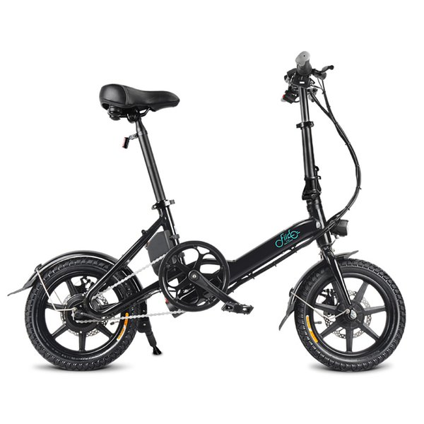 top popular Bike Folding Electric Light Bicycle Electrical Foldable Aluminum Alloy Moped E-bike 250W New Fiido D3 7.8Ah EU Free Shipping 2020