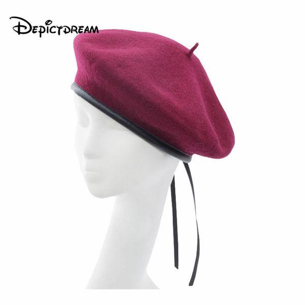 2018 New style wool Vintage Warm Wool Women Beret French Artist Beanie Hat size 56-58cm SH190921