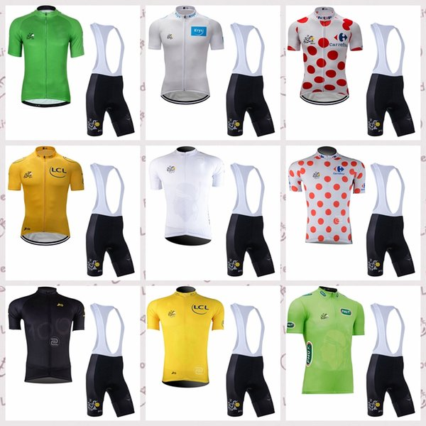 TOUR DE FRANCE Cycling Short Sleeves jersey bib shorts set Summer men's windproof breathable sports comfortable Jersey suit S52346