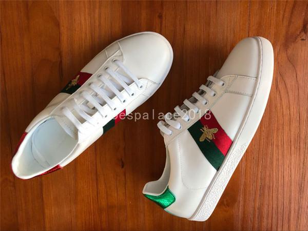 Großhandel Günstige Luxus Designer Männer Frauen Sneaker Freizeitschuhe Low Top Italien Marke Ace Biene Streifen Schuh Walking Sport Trainer
