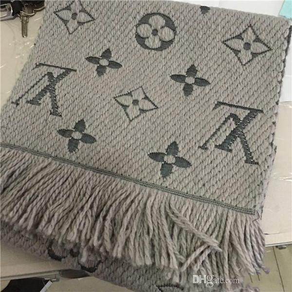 2019 Designer cachecol cachecóis de caxemira fio tingido jacquard lenço lenço de cashmere de luxo super macio 20 estilo atacado