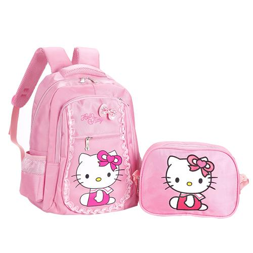 Pink B School Bag