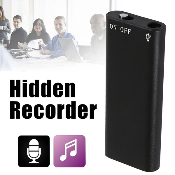 2018 new 8G Mini Digital Audio Voice Recorder Dictaphone Stereo MP3 Music Player 3 in 1 8GB Memory Storage USB Flash Disk Drive
