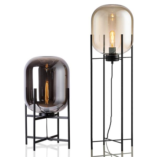 Lampada da tavolo moderna in vetro Decorazione in vetro creativo Lampada da tavolo camera da letto in vetro Apparecchi da comodino luci a LED Lampara decorativa