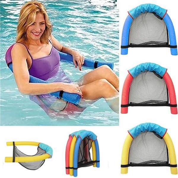 Toptan-Yaratıcı Şehriye Yüzme Koltuk Havuz Yüzen Yatak Rekreasyon Sandalye Su İnanılmaz Yüzer Komik Çok Renkler Rastgele Renk