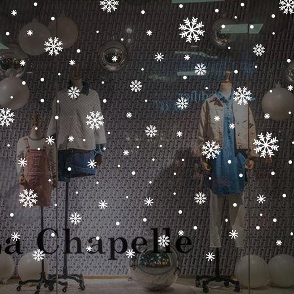 2020 Yeni Yılınız Kutlu Olsun Noel kar tanesi Pencere Tutunur Süsleme - Noel Çıkartma Çıkartmaları Süsler