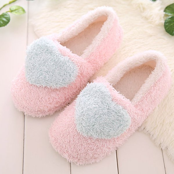 Women's Slippers Indoor House Cute Slippers Plush Soft Cute Cotton Shoes Non-slip Flooring Home Slippers