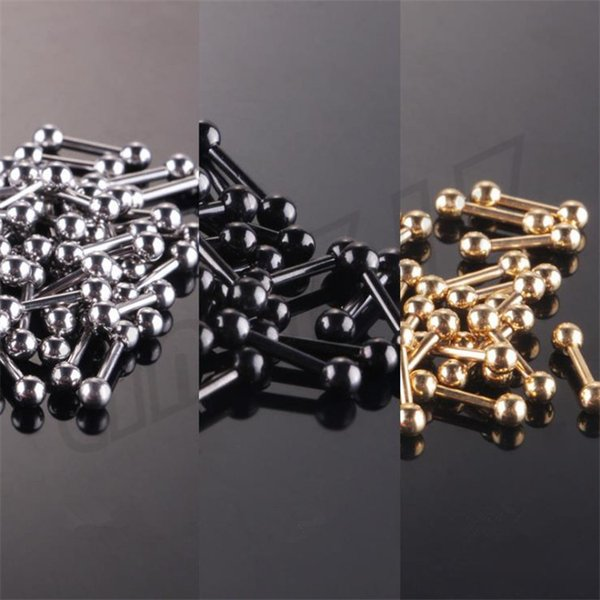 Moda Mini Kulak Çivi Titanyum Çelik Dambıl Fasulye Topu Kulak Çiviler Dekoratif Kulak Çiviler T9C0075