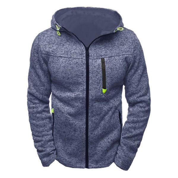 2019 hombres Fleece Zipper senderismo chaqueta con capucha chaqueta de punto al aire libre sudaderas chándal sudadera masculina con capucha top de viaje helado M-3XL