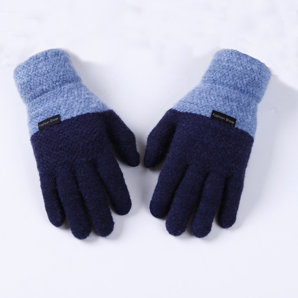 Plus Size Magic Touch Screen Sensory Gloves For Male Gloves Mens Stretch Knit Mittens Winter Warm Wool Guantes