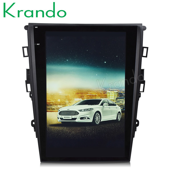 "Krando Android 6.0 12.1"" Tesla Vertical screen car DVD player GPS for ford mondeo fusion 2013-2017 multimedia navigation system KD-FV242"