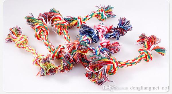 DLM2020 Dog Toys Pet Supplies Pet Dog cucciolo cotone Chew Nodo giocattolo durevole corda intrecciato osso divertente strumento di 17CM WN493C 100pc