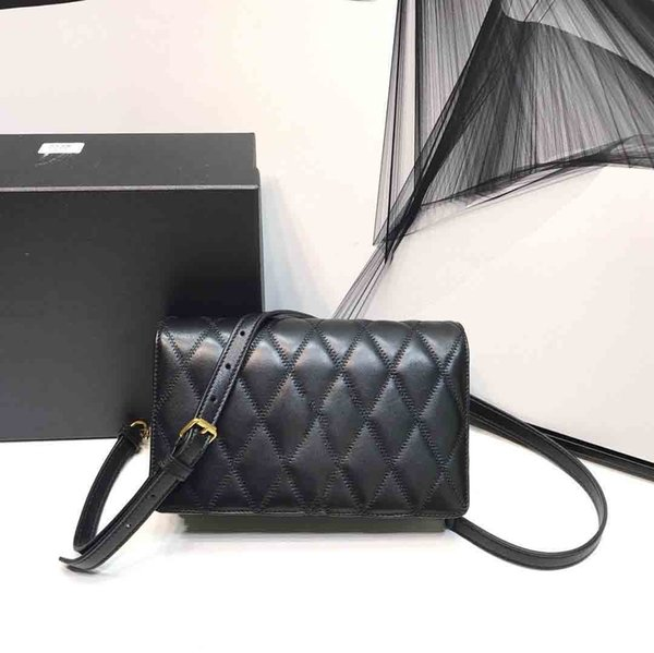 classic fashion designer women handbags quilted black handbags strap shoulder crossbody bags mini genuine leather purse tote bags 22cm free