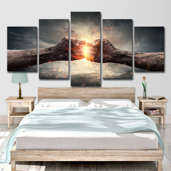 HD Printed Freedom Fighters Fire 5 Pieces Canvas Art Group Painting Room Decor Print Poster Picture Canvas Free Shipping