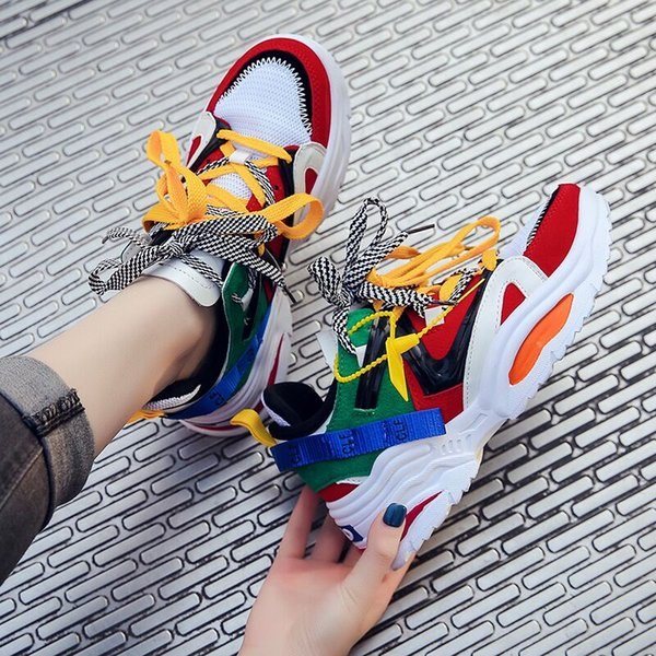 New Platform men Casual Shoes 2019 Trends Woman Sneakers Height Increasing Sports Shoes Light Chaussures Femme Z09