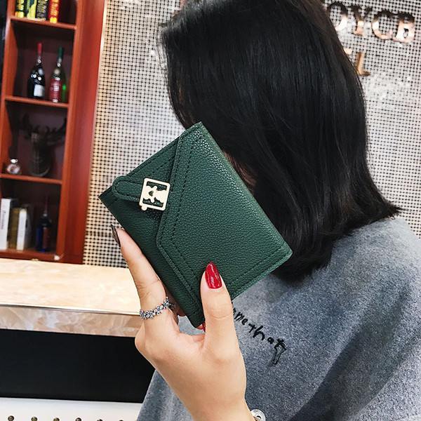 Gepäck Mädchen Herbst und Winter 2018 Neue Brieftasche Mode Damen Kurz Reine Farbige Null Brieftasche Hersteller Angepasst Eine Lieferung