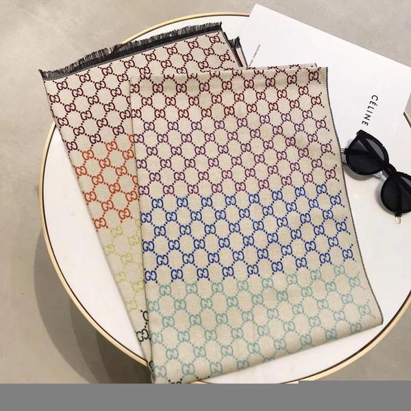 Marca Cashmere Cachecol mulheres Moda Carta Pashmina lenços de grife Xale Senhoras Lenços Longos Tamanho 180x70 cm