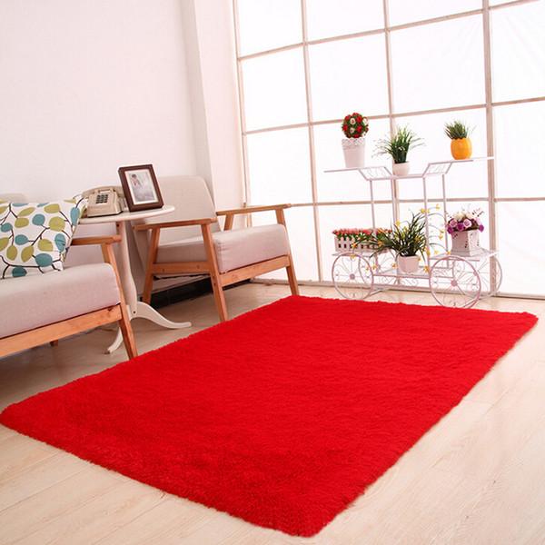 Fluffy Rugs Anti-Skid Shaggy Area Rug Sala da pranzo Casa Camera da letto Tappeto Tappetino tappeto cucina alfombra infantil tappeto da cucina