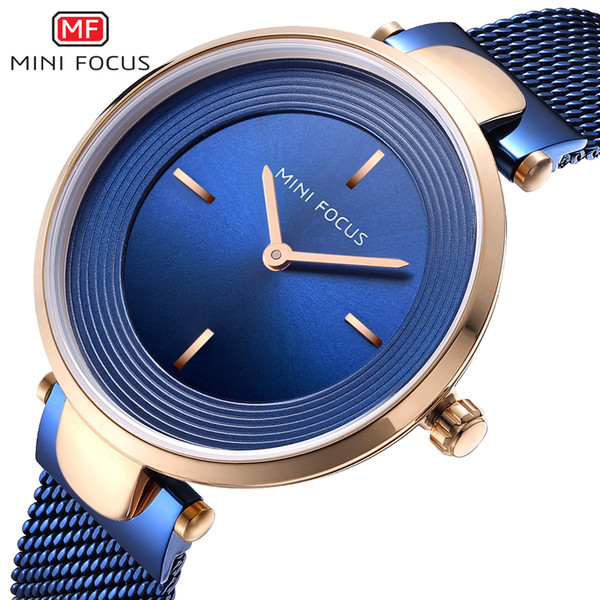 Mini Focus Brand Women Watches Luxury Blue Quartz Ladies Watch Women Diamond Bracelet Wrist Watch Female Clock Relogio Feminino Y19052201