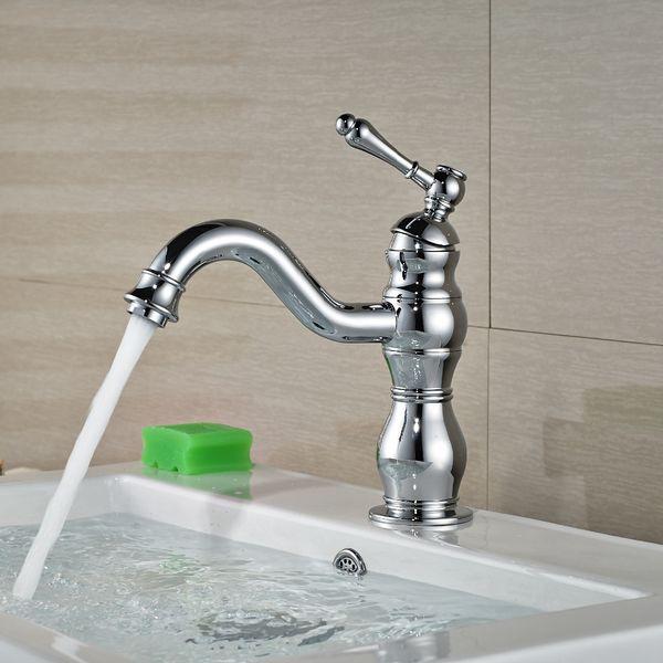 Polished Chrome Brass Single Lever Handle Kitchen Sink Bathroom Vessel Basin Faucet Mixer Taps acy005