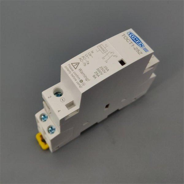 Home Improvement TOCT1 2P 25A DC 12 24 bobina 220V / 230V 50 / 60Hz guida DIN domestica ac modulare contattore 2NO
