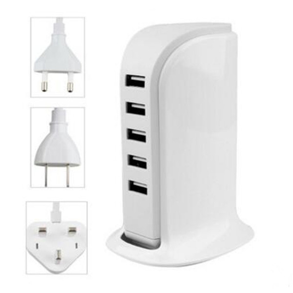 DC 5V 5A 5 port USB socket charger Cell Phone Chargers Factory direct sales of multi-function mobile phone and tablet charger